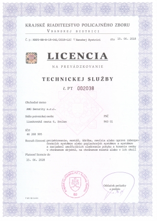 SBS_Technická_služba_Licencia